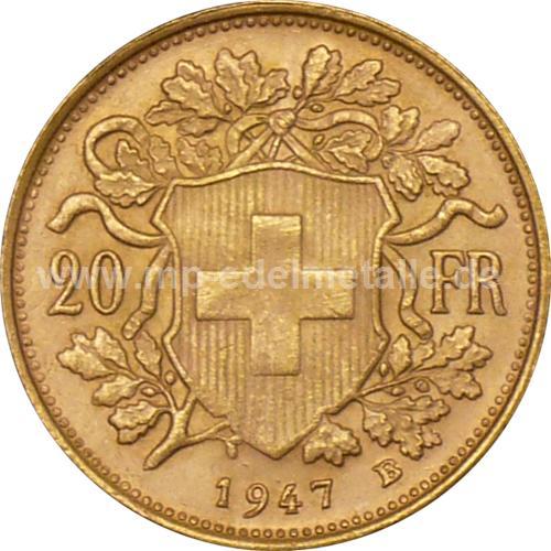 Vreneli 20 Franken 0.187 oz (1897-1949)