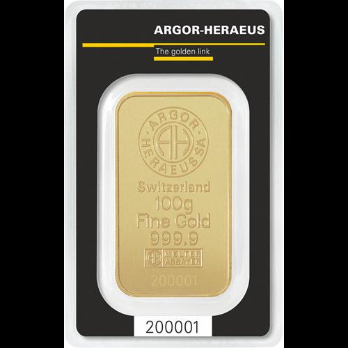 Argor - Heraeus Barren 100g