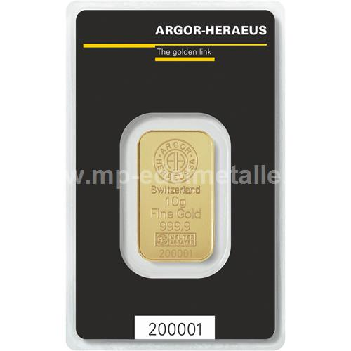 Argor - Heraeus Barren 10g
