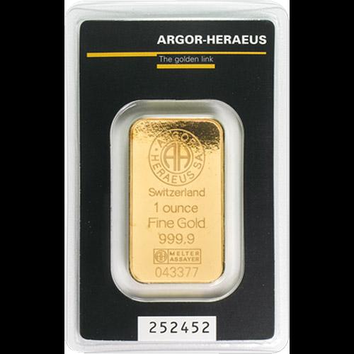 Argor - Heraeus Barren 31,1g