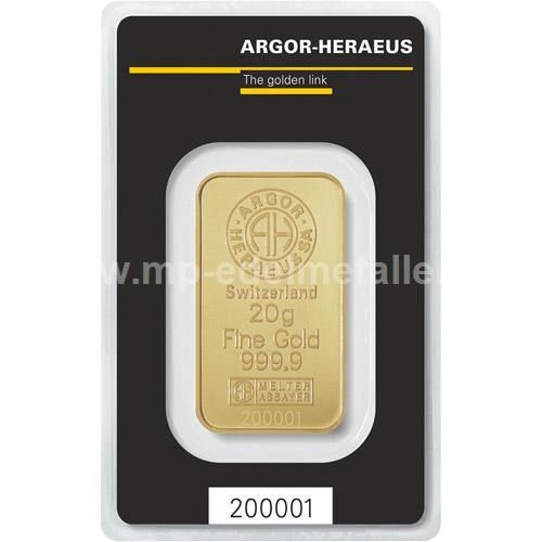 Argor - Heraeus Barren 20g