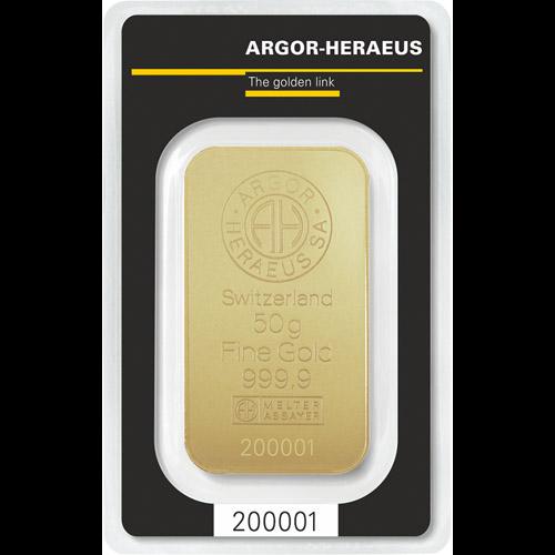 Argor - Heraeus Barren 50g