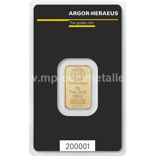 Argor - Heraeus Barren 5g