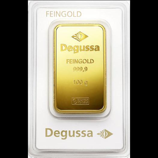 Degussa Goldhandel Barren 100g