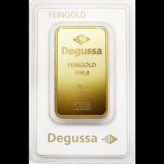 Degussa Goldhandel Barren 50g