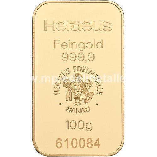 Heraeus Barren 100g