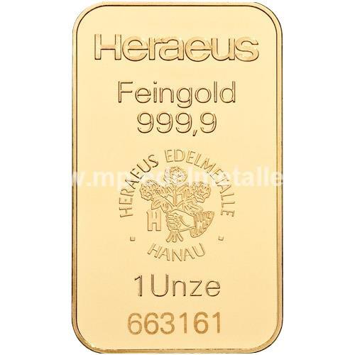 Heraeus Barren 31,1g