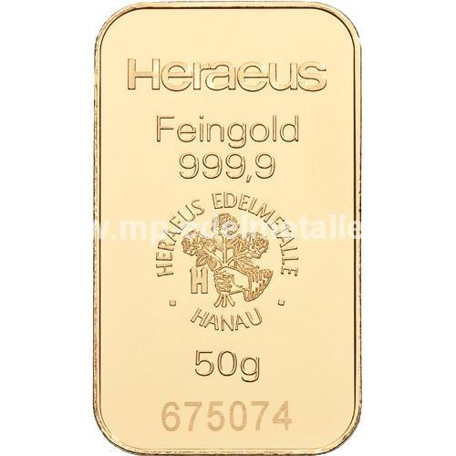 Heraeus Barren 50g