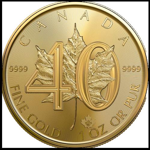 Maple Leaf 1oz Jubiläum 40 Jahre (2019)