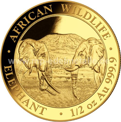 Somalia Elefant 1/2 oz  (2020)