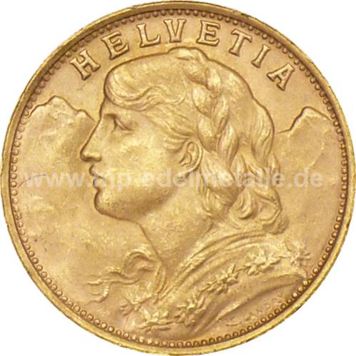 Vreneli 20 Franken 0.187 oz (1935)