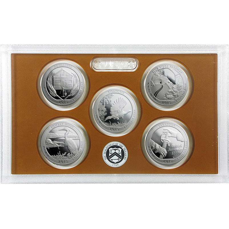 America the Beautiful Quarter Proof Set (differenzbesteuert)  (2015)