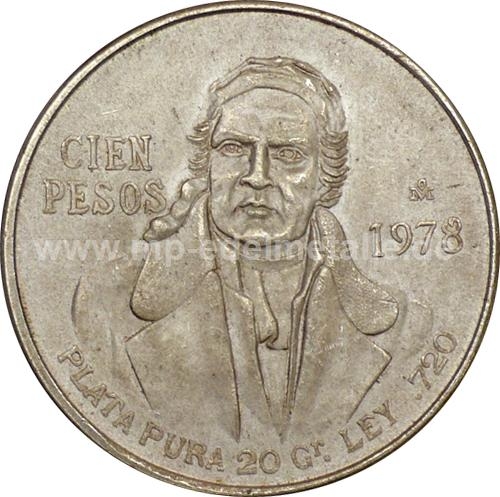 100 Peso Morelos (1977- 1979)