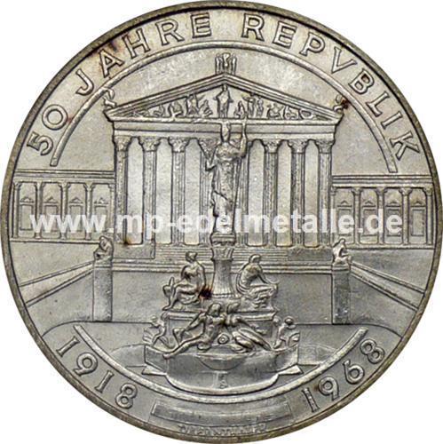50 Schilling Gedenkmünzen (differenzbesteuert) (1959 - 1973)