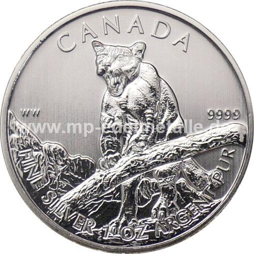 5 $ Wildlife Puma 1oz (differenzbesteuert) (2012)
