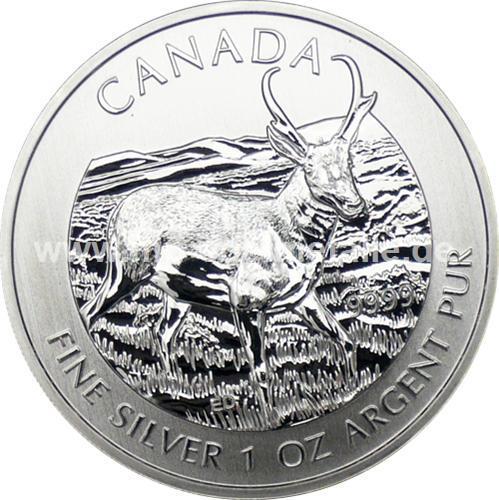 5 $ Wildlife Antilope 1oz (differenzbestsuert) (2013)