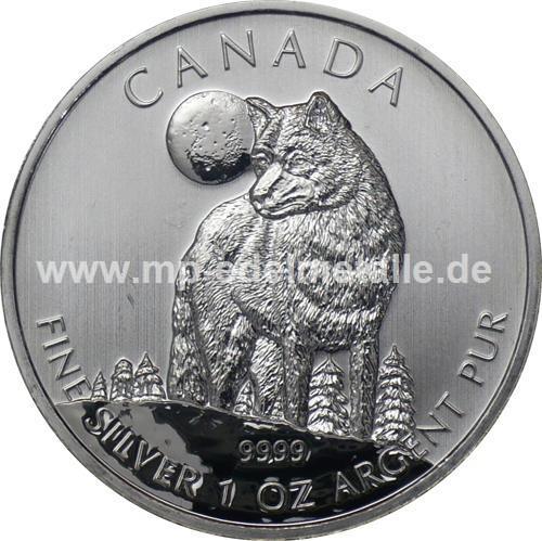 5 $ Wildlife Wolf 1oz (differenzbesteuert) (2011)