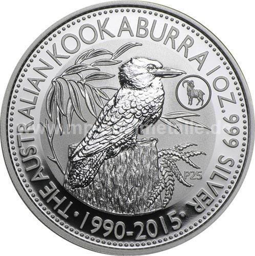Kookaburra 1oz Privy Ziege (differenzbesteuert)  (2015)