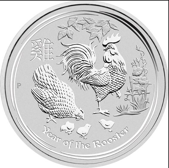 Jahr des Hahn 1/2 oz  (differenzbesteuert) (2017)