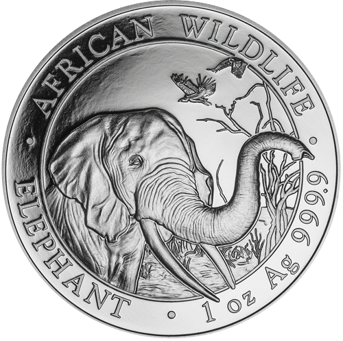 Somalia Elefant 1oz (differenzbesteuert) (2018)
