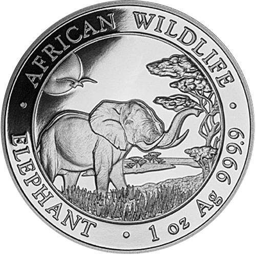 Somalia Elefant 1oz (differenzbesteuert) (2019)
