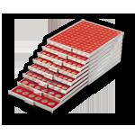 Münzboxen Lindner Münzbox 2707 RAUCHGLAS mit 42 runden Vertiefungen für Münzen mit Ø 27,5 mm